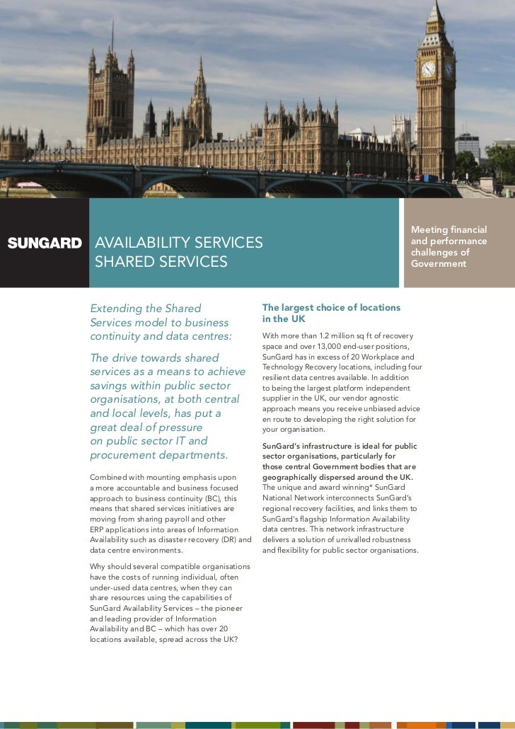 SunGard Government Shared Services