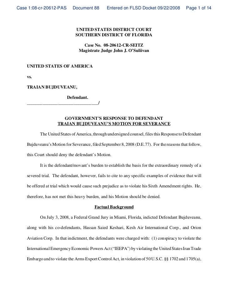 Case 1:08-cr-20612-PAS       Document 88         Entered on FLSD Docket 09/22/2008            Page 1 of 14                ...