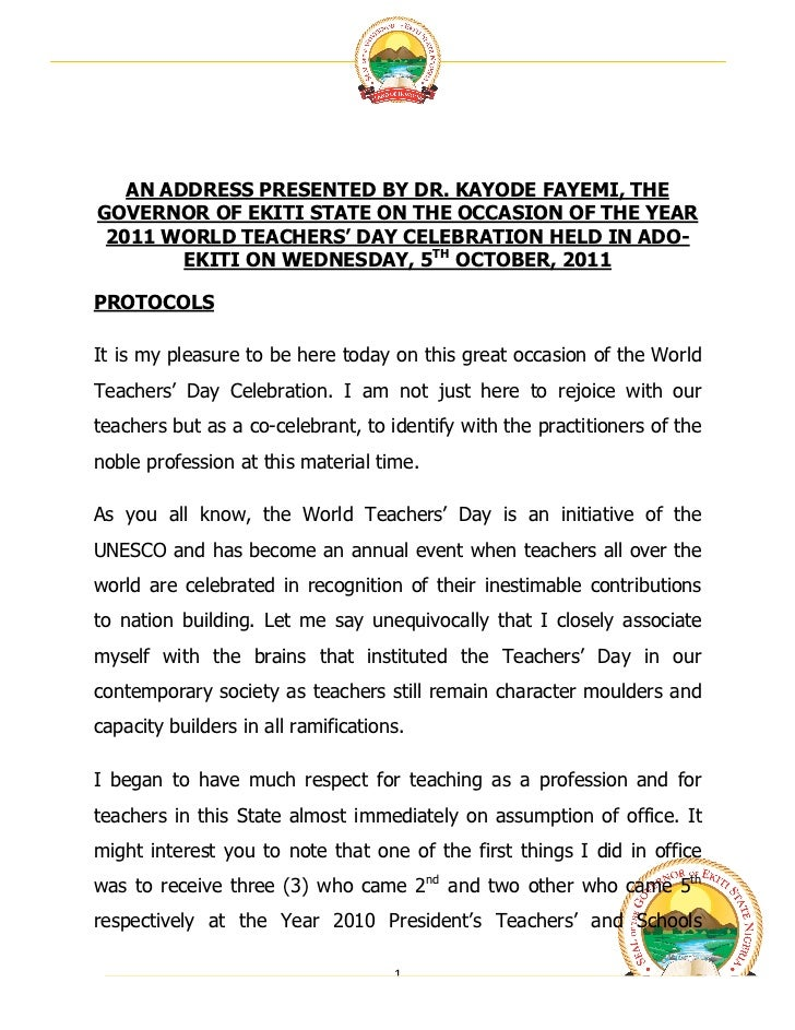 teacher day celebration essay