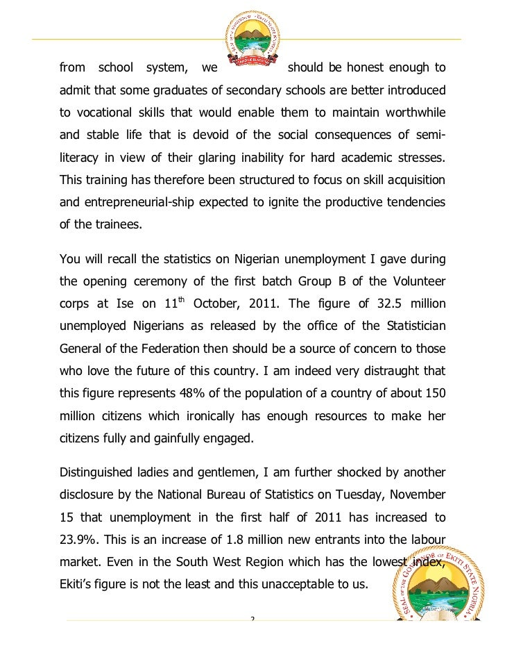 thesis on unemployment in nigeria