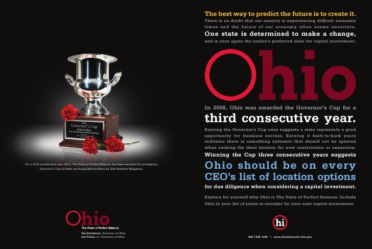 Ohio Governor's Cup Ad