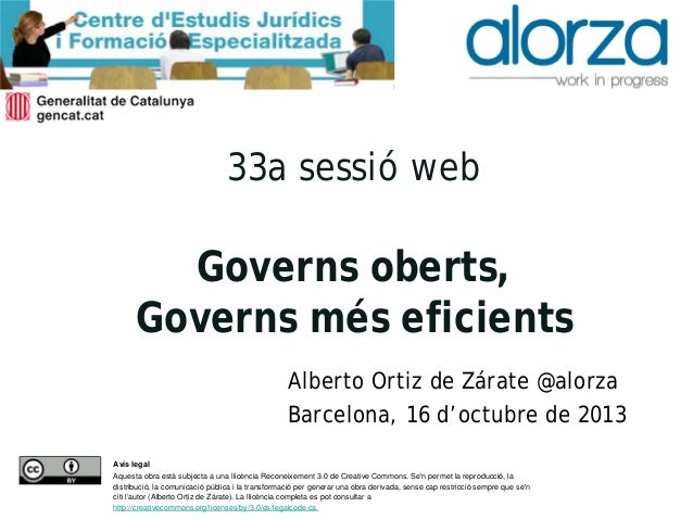 Governs oberts, governs més eficients. Alberto Ortiz de Zárate