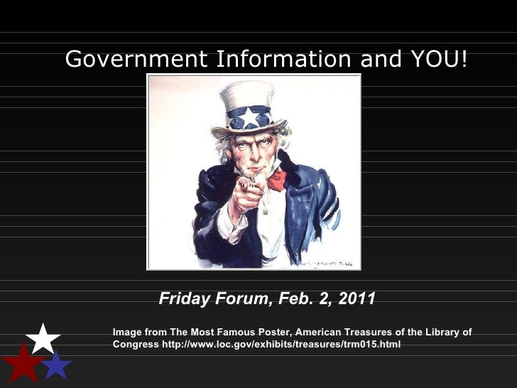 Government Information and YOU! Image from The Most Famous Poster, American Treasures of the Library of Congress http://ww...