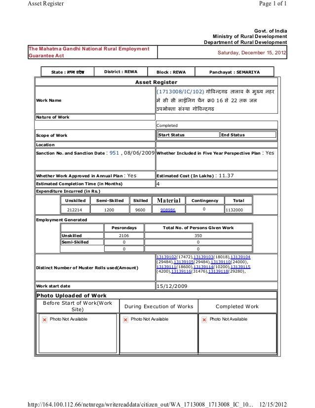 Asset Register                                                                                                  Page 1 of ...