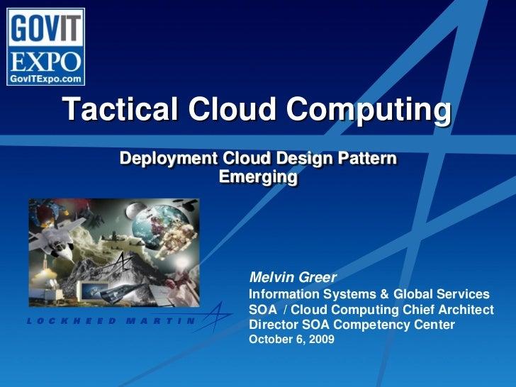 Lockheed Martin Deployment Cloud Design Patterns