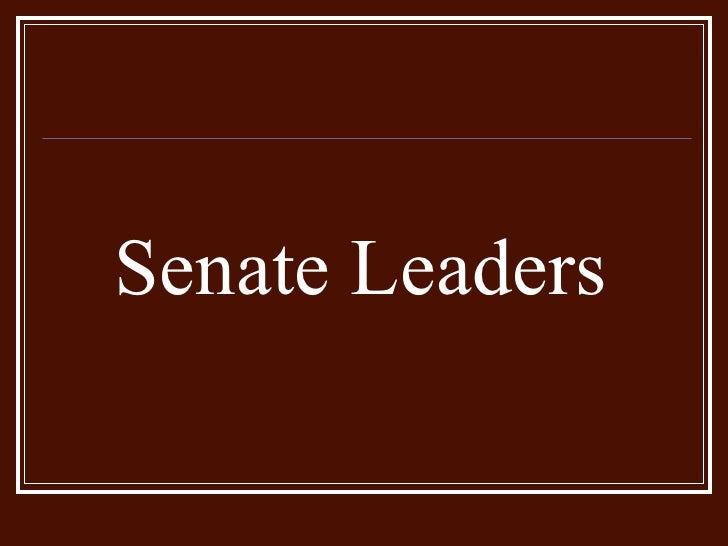 Senate Leaders