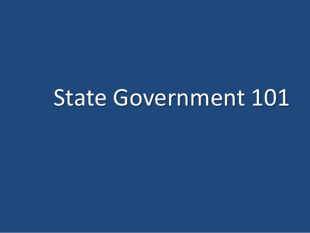 State Government 101