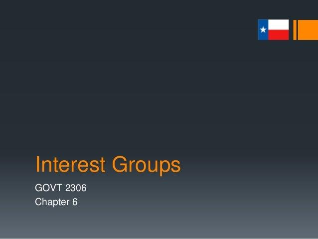 Interest Groups GOVT 2306 Chapter 6