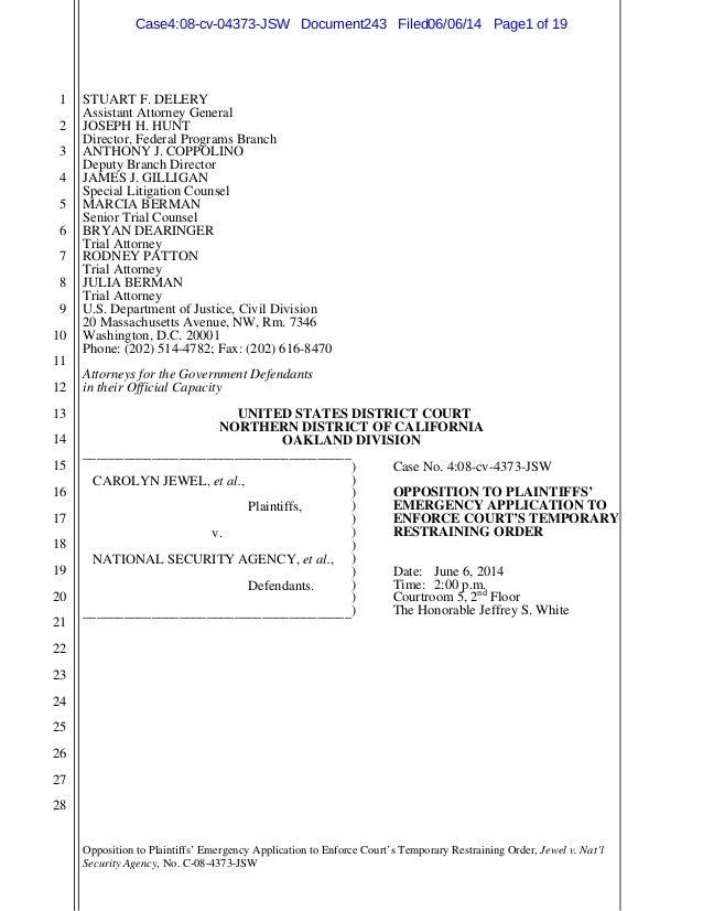 lawsuit against NSA