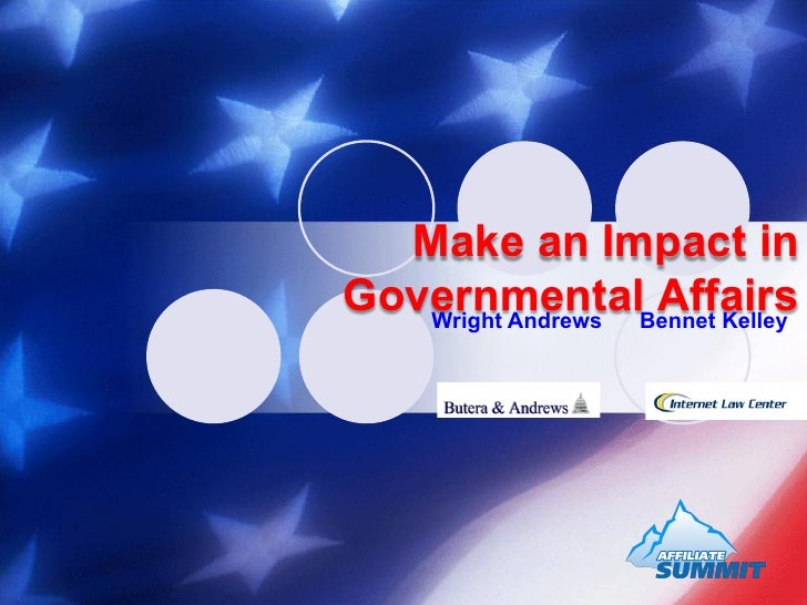 Make an Impact in Governmental Affairs
