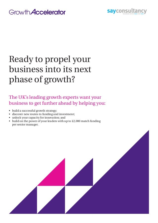 Ready to propel your business into its next phase of growth? The UK's leading growth experts want your business to get fur...