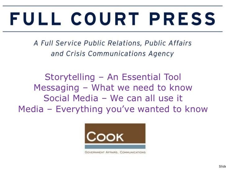 Goyette FCP Cook - Session 3 Storytelling Messaging