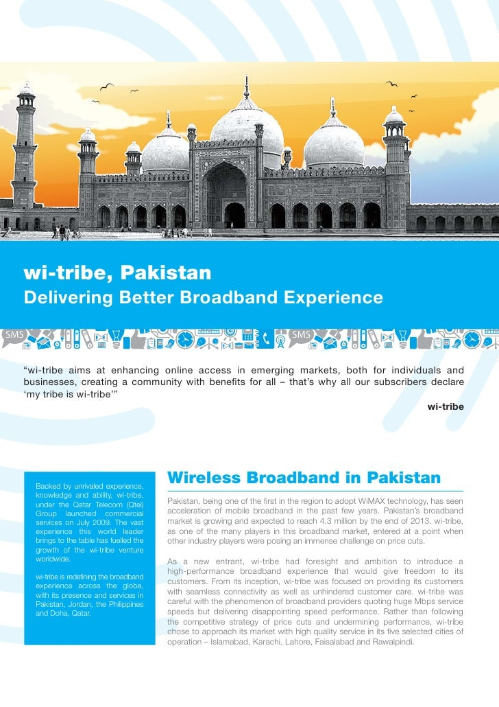 """wi-tribe, PakistanDelivering Better Broadband Experience""""wi-tribe aims at enhancing online access in emerging markets, bot..."""