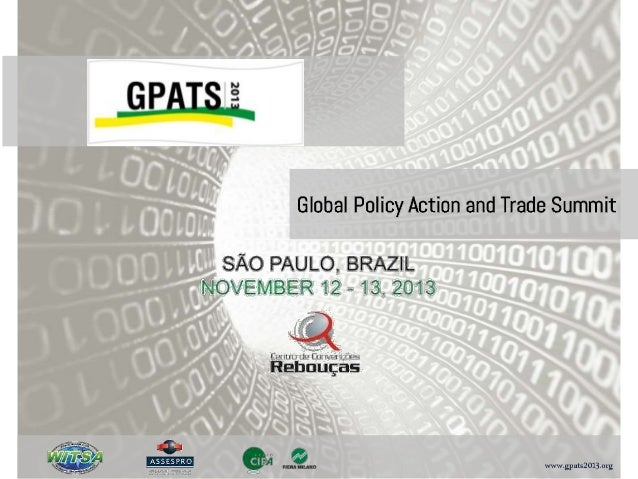 GPATS 2013, one of the premier events sponsored by the World Information Technology and Services Alliance (WITSA), will ta...