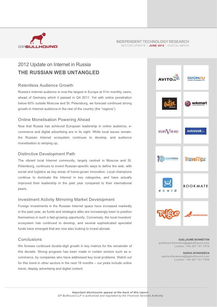 Russian Internet Update - June 2012