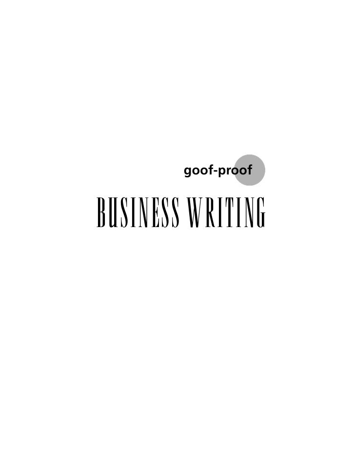 G P  Business  Writing