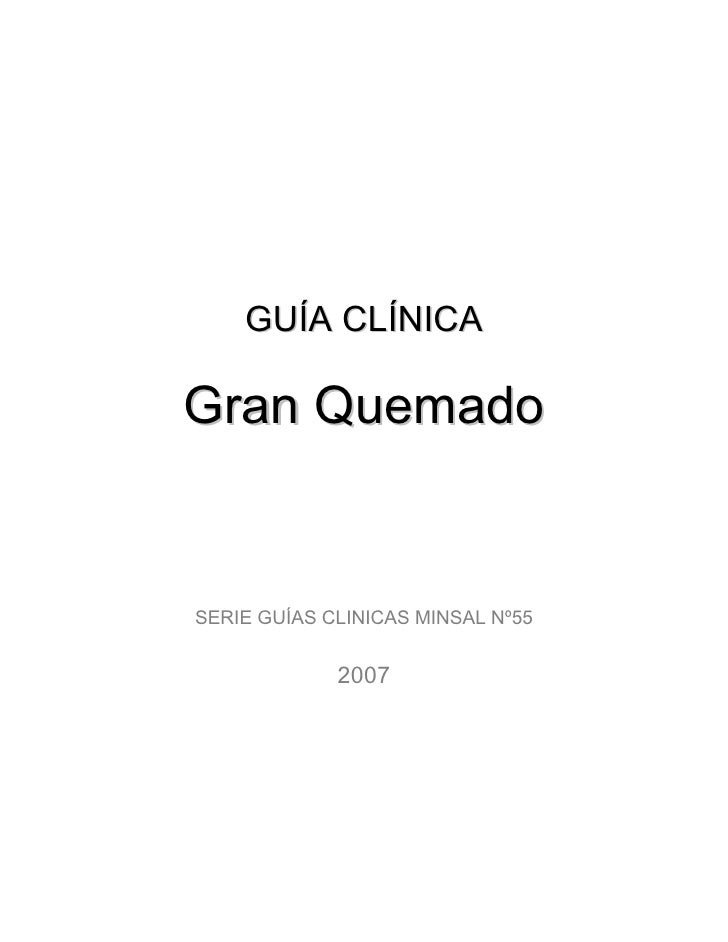 GUÍA CLÍNICA  Gran Quemado   SERIE GUÍAS CLINICAS MINSAL Nº55                2007