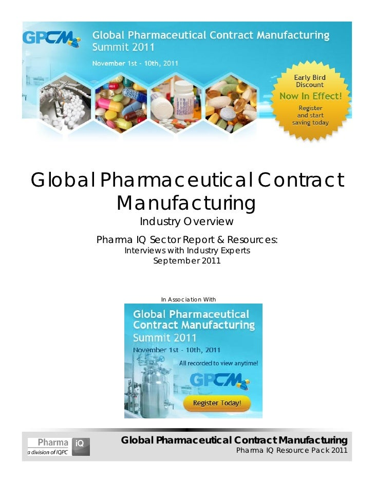 Global Pharmaceutical Contract Manufacturing - 2011 Sector Report