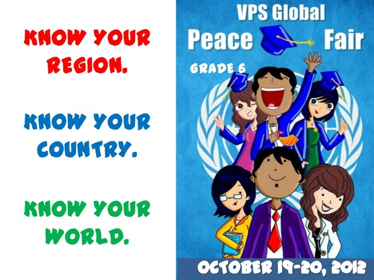 KNOW YOUR  REGION.   GRADE 6KNOW YOUR COUNTRY.KNOW YOUR  WORLD.
