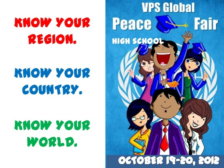 KNOW YOUR  REGION.   High schoolKNOW YOUR COUNTRY.KNOW YOUR  WORLD.
