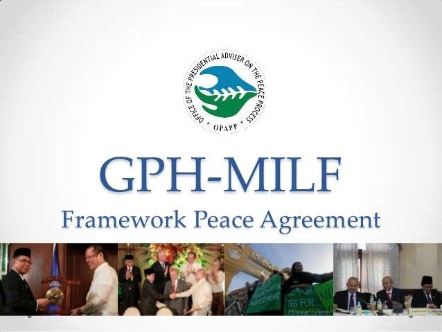 GPH-MILFFramework Peace Agreement