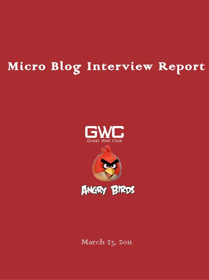 Gport 20110323-angry birds Micro Blog interview report