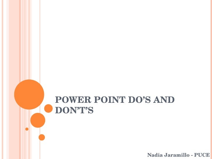 Power point Do´s and don´t´s