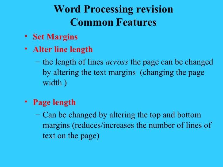 <ul><li>Set Margins </li></ul><ul><li>Alter line length </li></ul><ul><ul><li>the length of lines  across  the page can be...