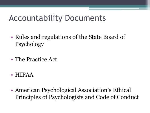 apa code of ethics