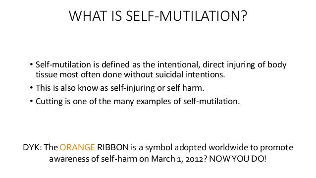 self mutilation essay