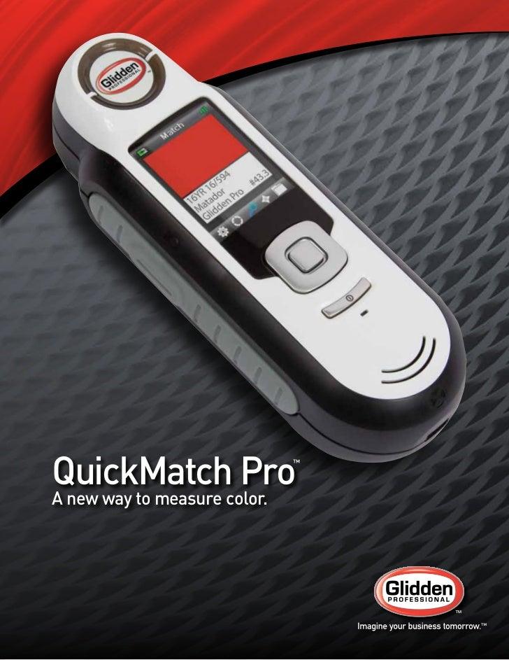 Glidden Professional  Quick Match Pro