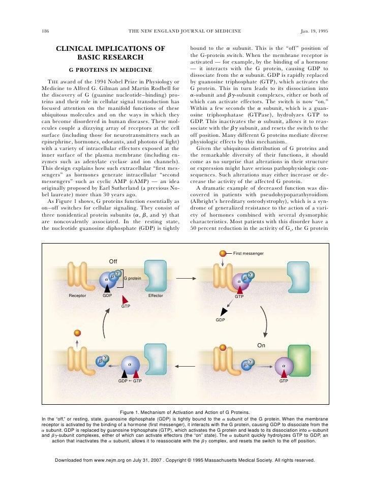 G proteins in medicine