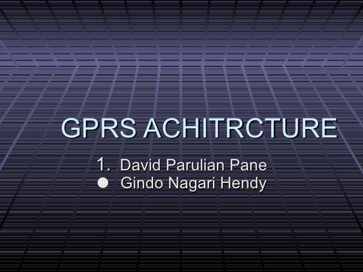 Gprs Achitrcture