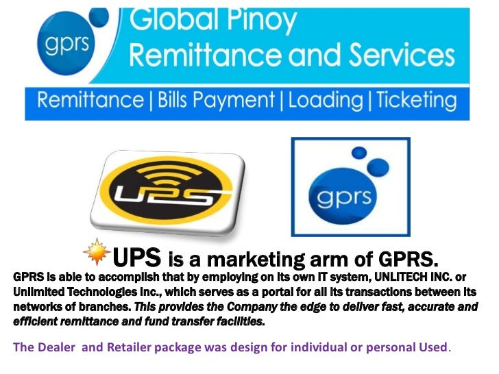 UPS is a marketing arm of GPRS.GPRS is able to accomplish that by employing on its own IT system, UNLITECH INC. orUnlimite...