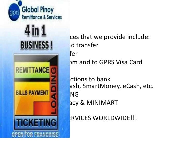 • Some of the services that we provide include:• Wallet System Fund transfer• Airtime load transfer• Money transfer from a...