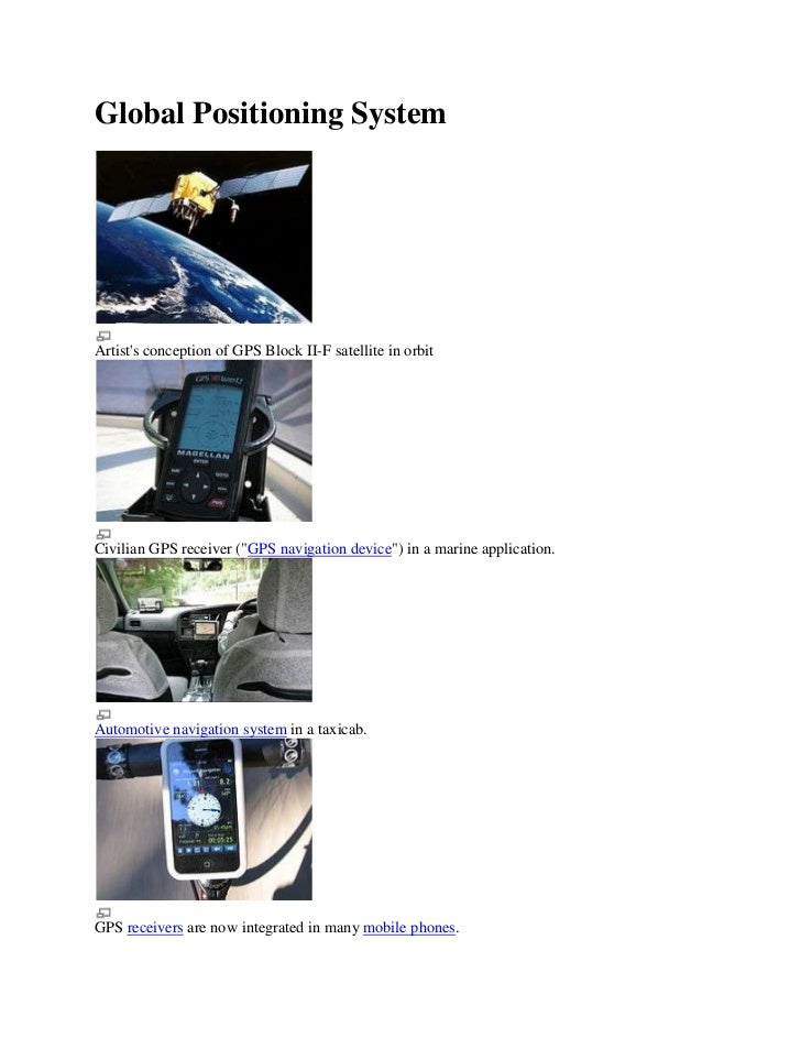 "Global Positioning System<br />Artist's conception of GPS Block II-F satellite in orbitCivilian GPS receiver (""GPS navigat..."