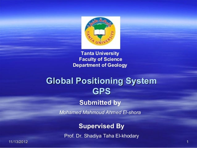 Tanta University                      Faculty of Science                    Department of Geology             Global Posit...