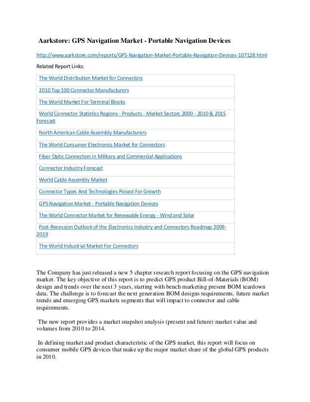 Gps navigation market