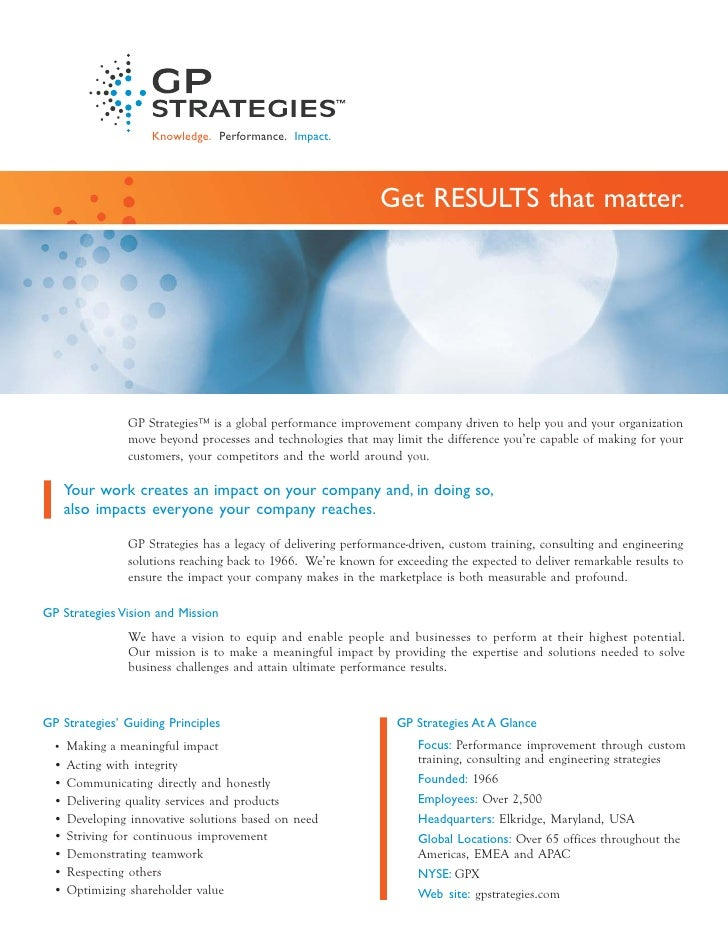 GP Strategies fact sheet 3.28.12
