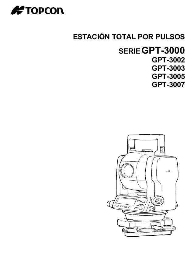 Gpt 3000-manual1parte-estacion-total