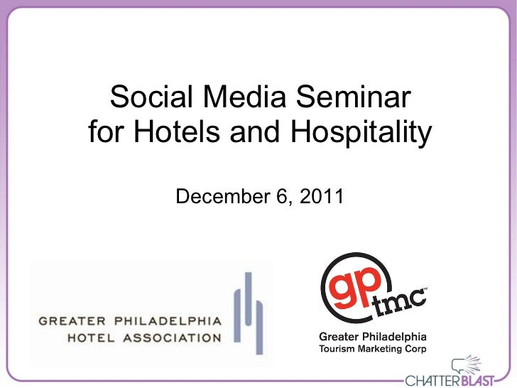 Social Media for Hotels and Hospitality
