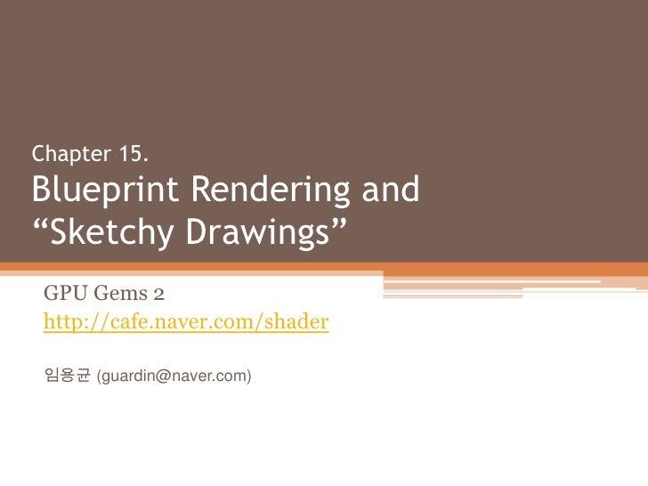 Gpu Gems 2 Chapter 15 Sketchy Rendering
