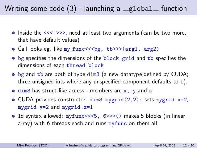 cuda programming for beginners pdf