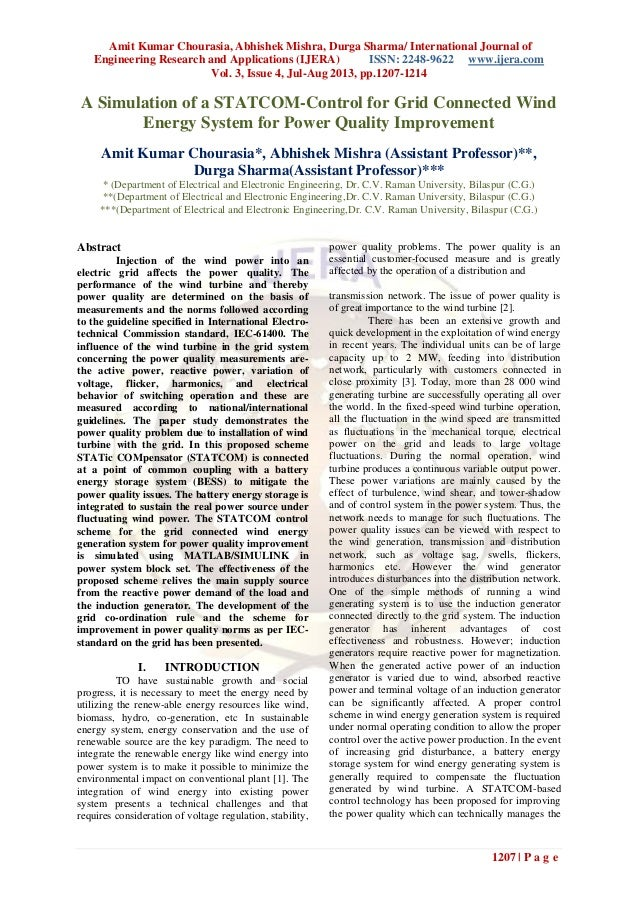 Amit Kumar Chourasia, Abhishek Mishra, Durga Sharma/ International Journal of Engineering Research and Applications (IJERA...