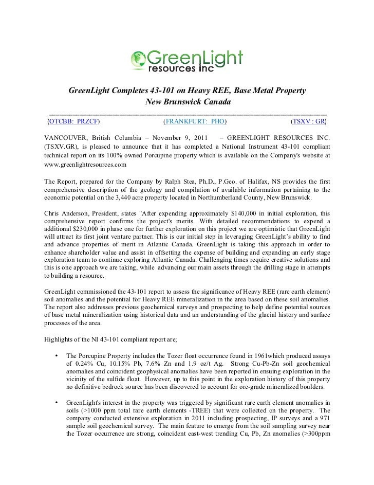 GreenLight                                        resources inc                                                           ...