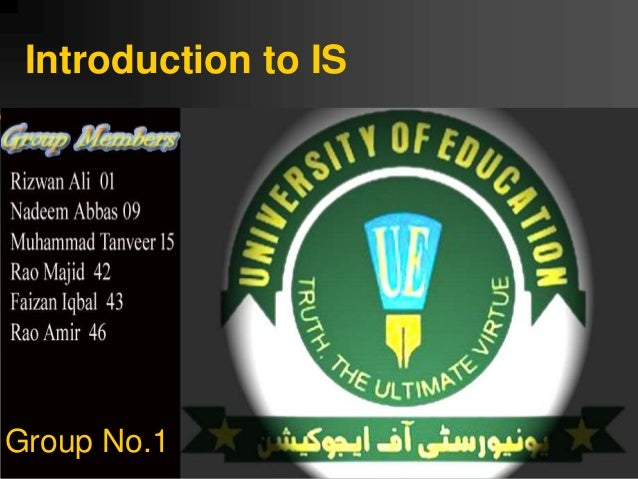 Introduction to IS Group No.1
