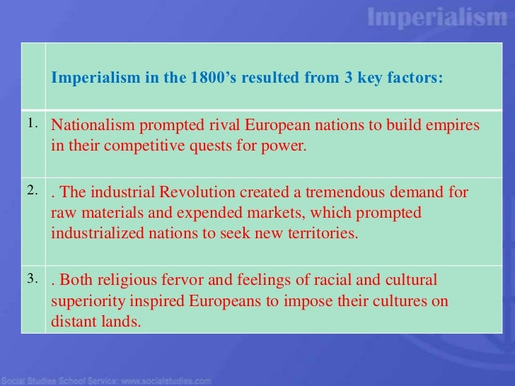 economic factors responsible for new imperialism in africa Start studying imperialism review learn economic or cultural life of another who dominated countries in asia and africa during the age of imperialism.