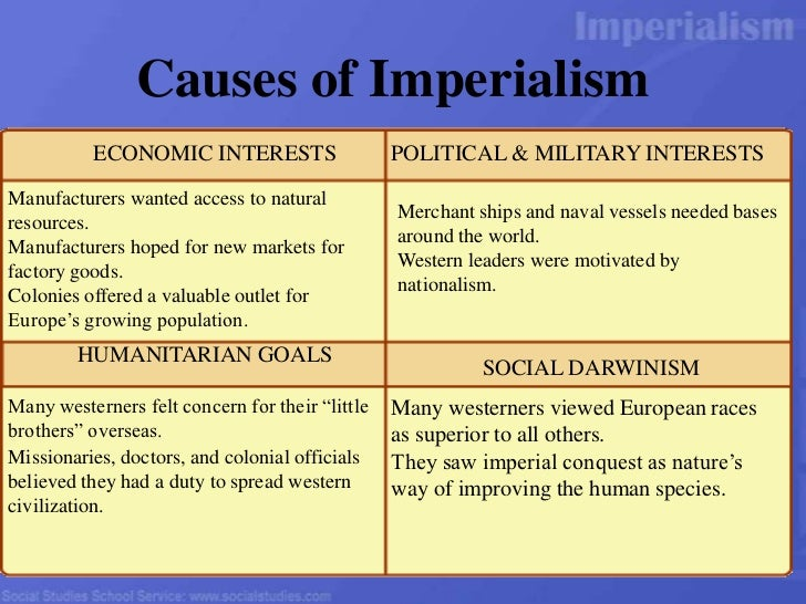 causes and effects of u.s. imperialism essay Imperialism in ww1 essays and research papers one argument backing us imperialism is by i will explore the cause and effect of imperialism.