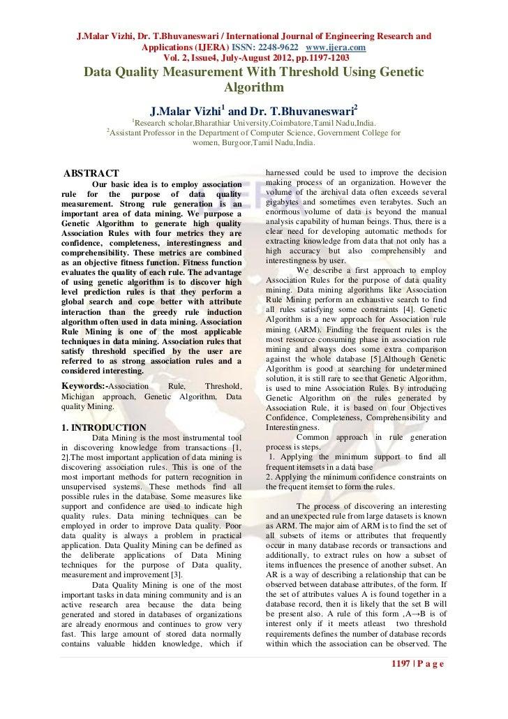 J.Malar Vizhi, Dr. T.Bhuvaneswari / International Journal of Engineering Research and                    Applications (IJE...