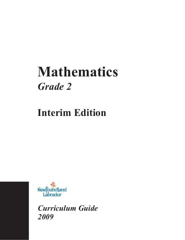 Mathematics Grade 2 Curriculum Guide 2009 Interim Edition